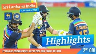 2nd ODI Highlights   Sri Lanka vs India 2021